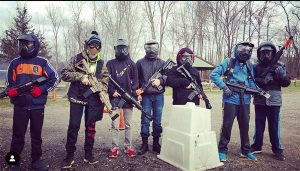 Paintball Group Players